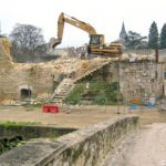 Château de Brie-Comte-Robert - Déconstruction de la maison XIXe s. -- © ADVC Brie