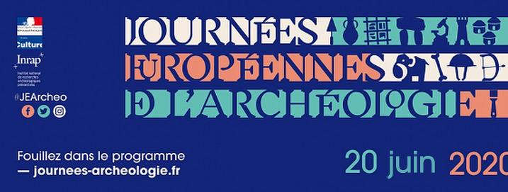 Affiche des Journées Européennes de l'Archéologie 2020